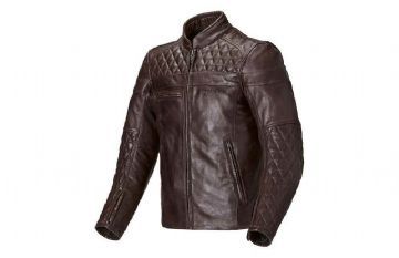 Triumph Ladies Andorra Leather Retro Motorcycle Motorbike Jacket D3O Armour